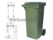 Plastik Çöp Konteyneri 120LT