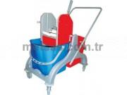 Rindo Çift Kovalı Temizlik Arabası (Plastik Gövde + Plastik Pres)